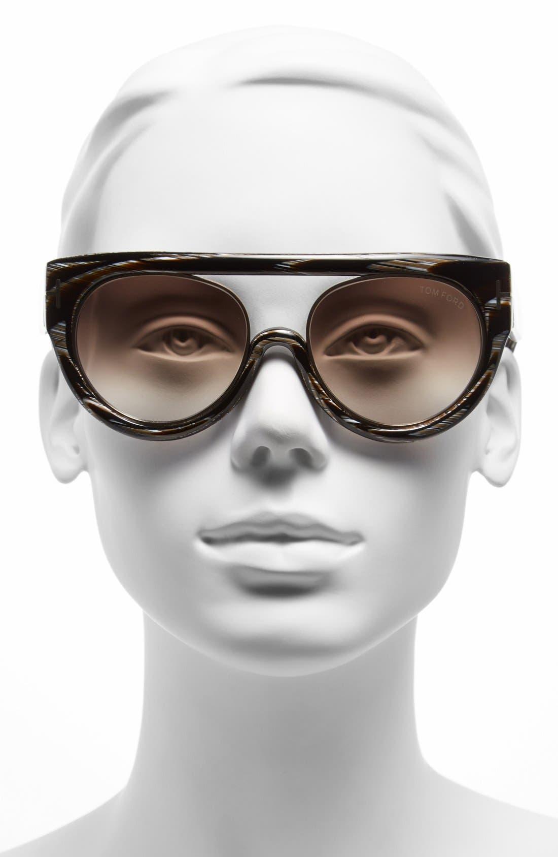 Alternate Image 2  - Tom Ford 'Alana' 55mm Modified Aviator Sunglasses