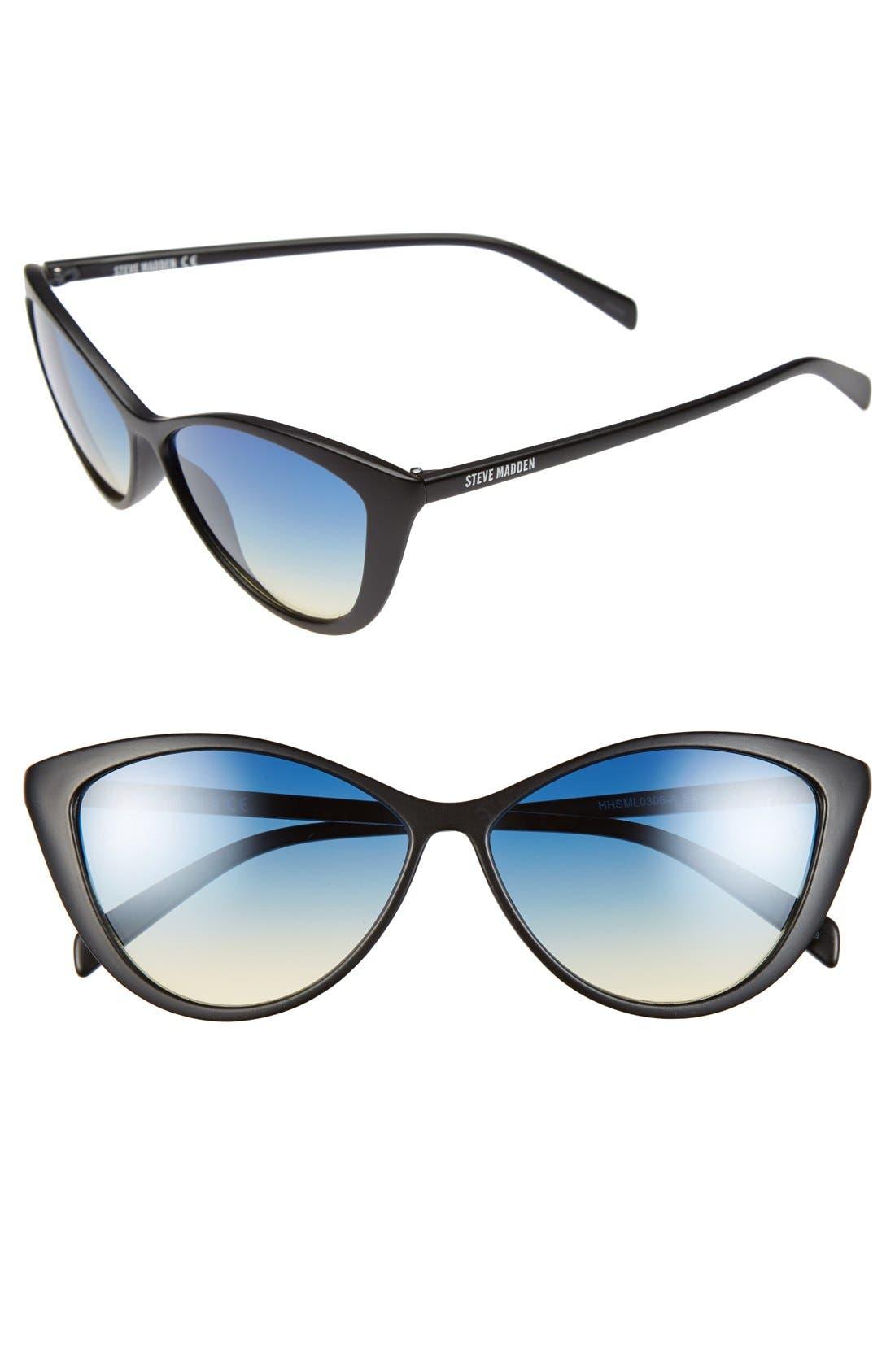 Alternate Image 1 Selected - Steve Madden 58mm Cat Eye Sunglasses