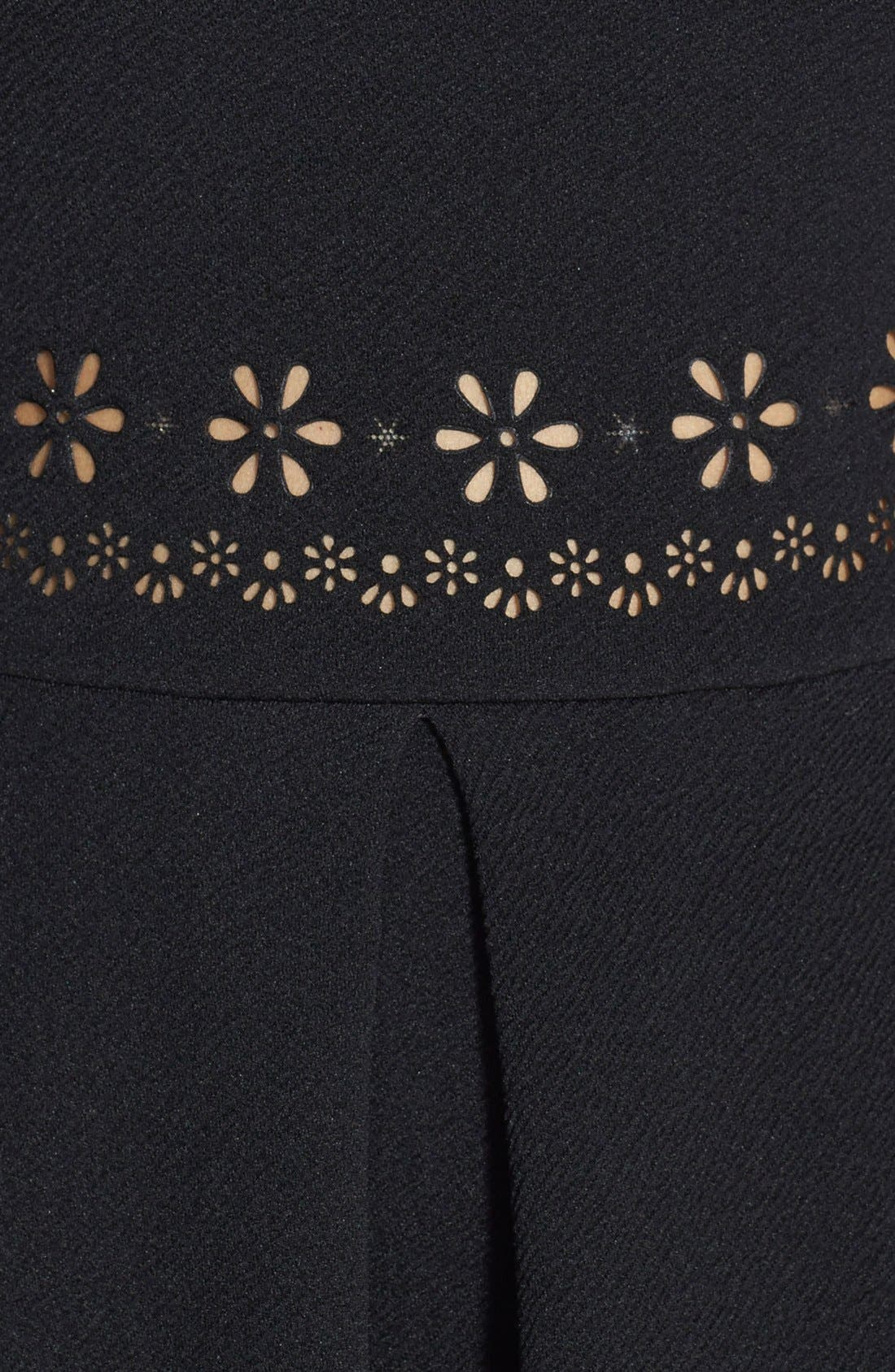 Alternate Image 4  - Painted Threads Laser Cut Skater Dress (Juniors)