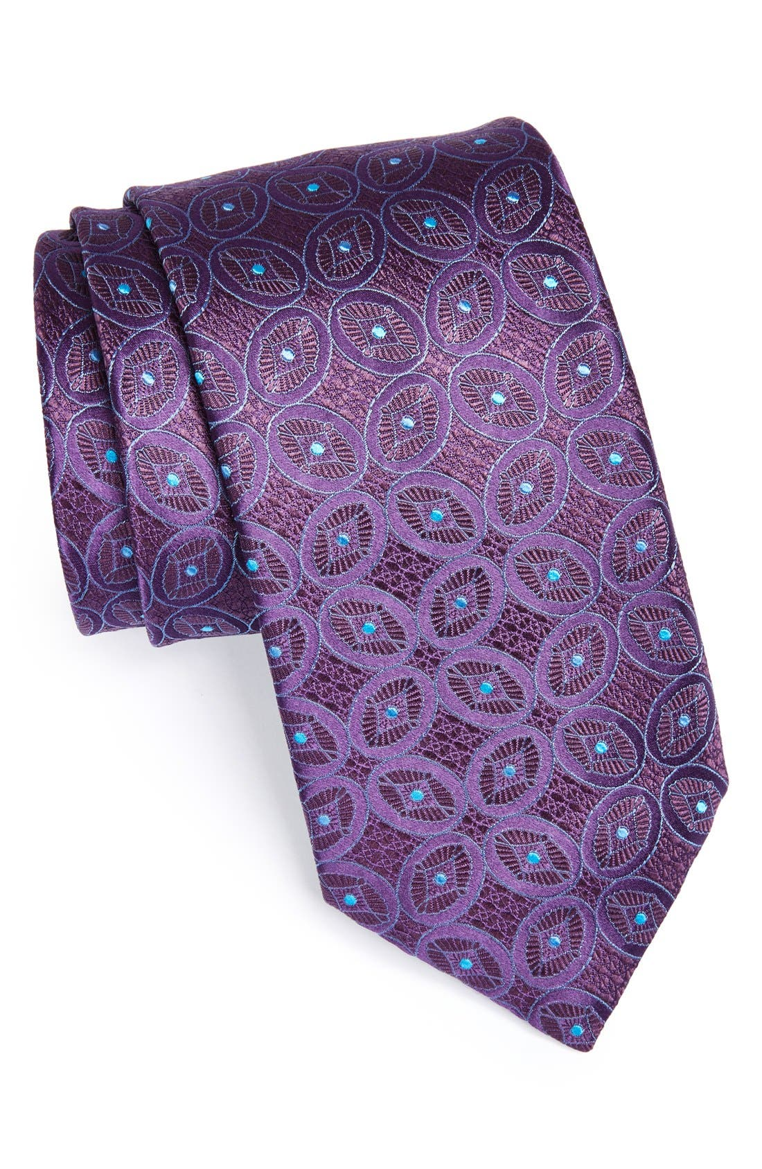 Alternate Image 1 Selected - Canali Geometric Woven Silk Tie