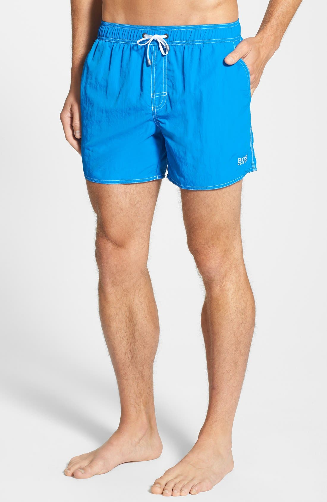 Alternate Image 1 Selected - BOSS 'Lobster' Volley Swim Shorts (Men)