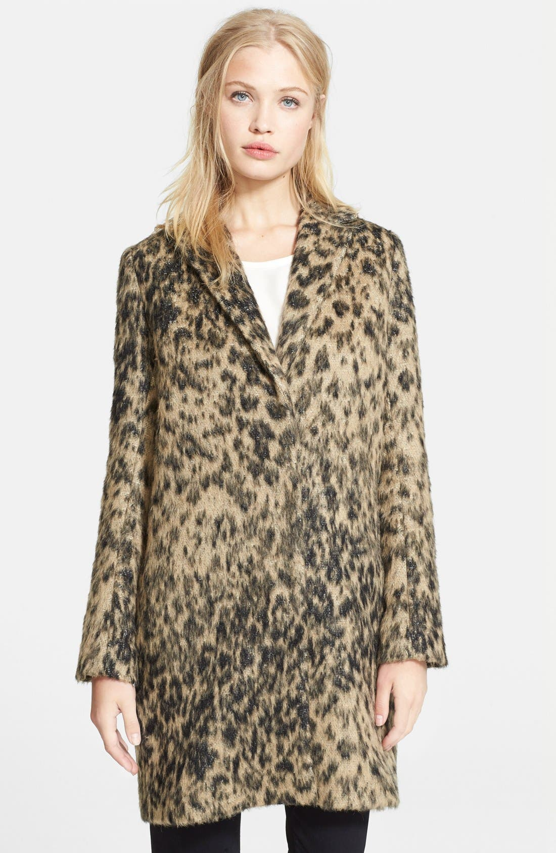 Alternate Image 1 Selected - Smythe Animal Print Alpaca & Mohair Lab Coat