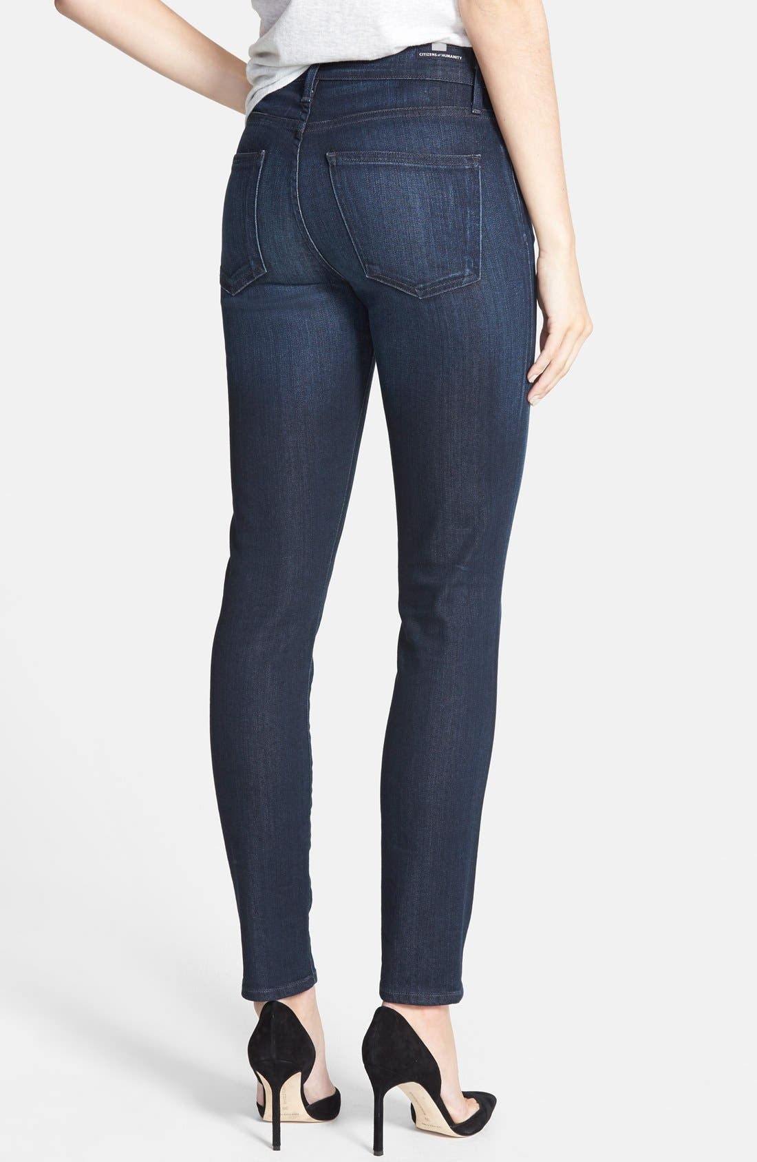 Alternate Image 2  - Citizens of Humanity 'Rocket' High Rise Skinny Jeans (Space)