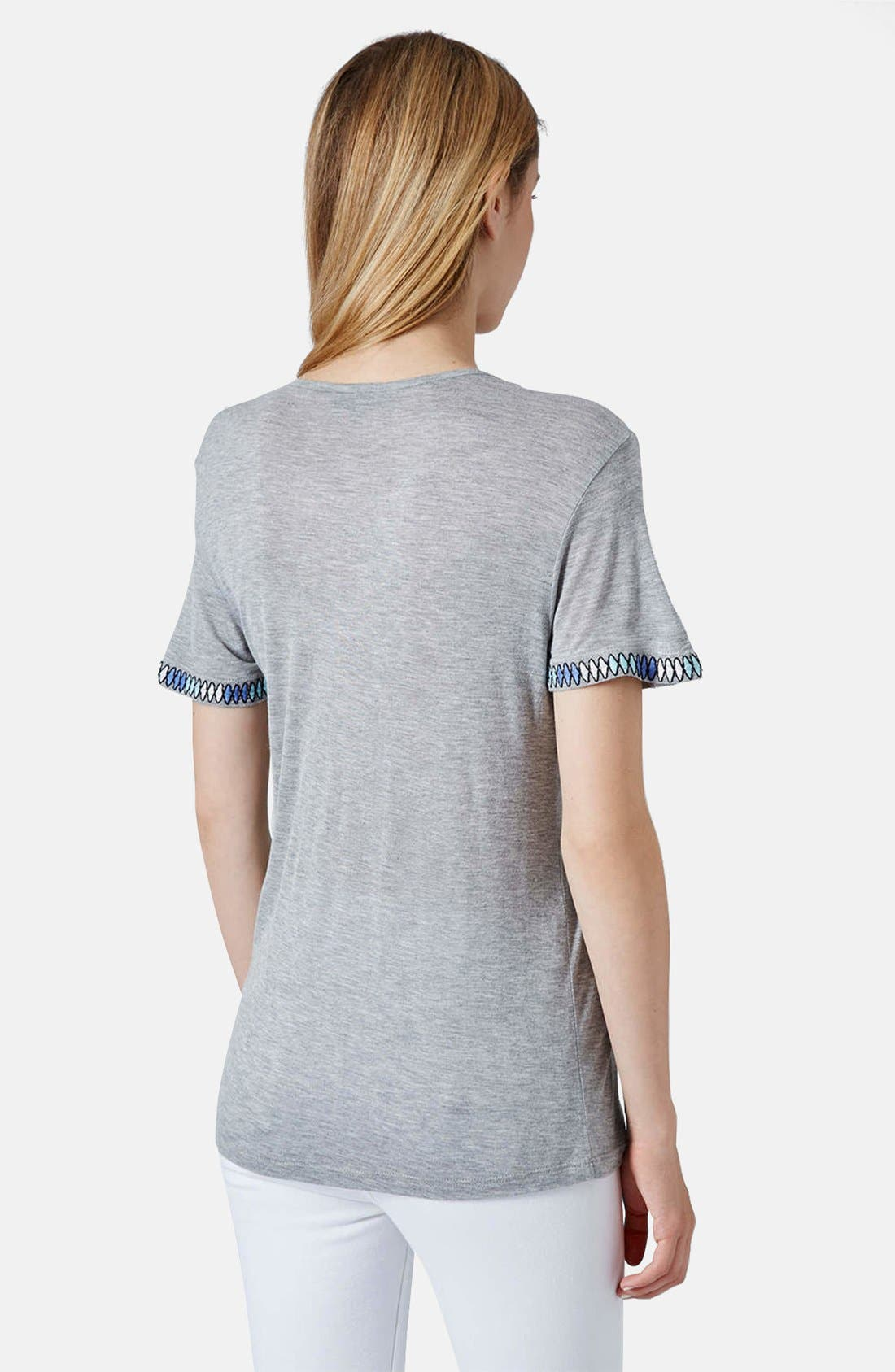 Alternate Image 2  - Topshop Mirror Crewneck Tee