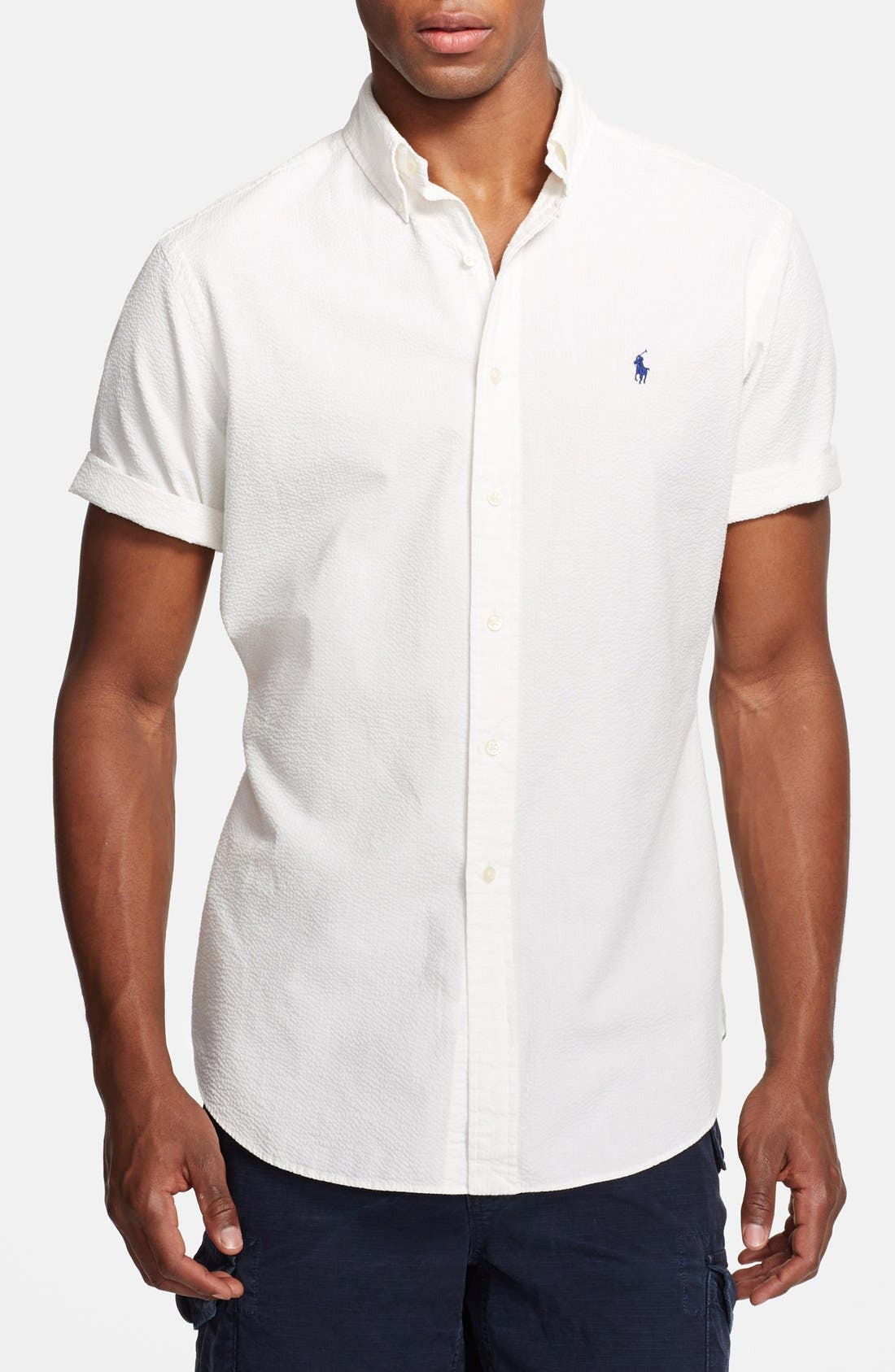 Main Image - Polo Ralph Lauren Classic Fit Seersucker Shirt