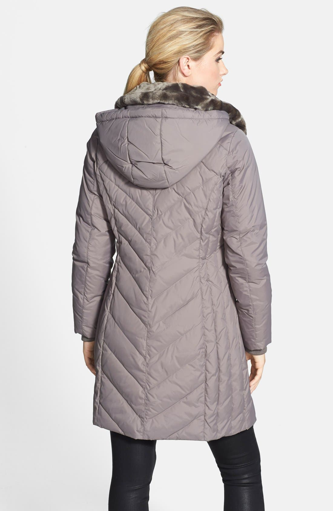 Alternate Image 2  - MICHAEL Michael Kors Fur Trim Down & Feather Coat (Online Only) (Regular & Petite)