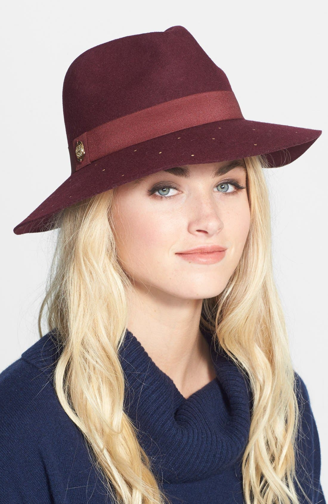 Alternate Image 1 Selected - Vince Camuto Studded Panama Hat