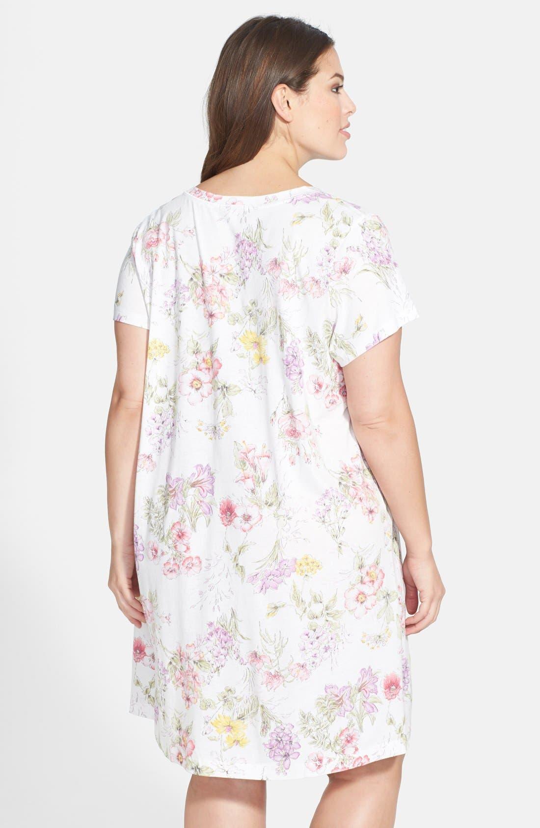 Alternate Image 2  - Carole Hochman Designs 'Country Garden' Sleep Shirt (Plus Size)