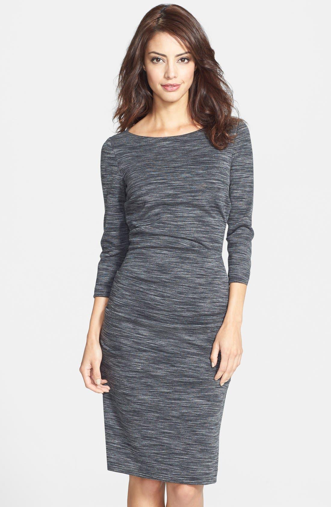 Alternate Image 1 Selected - Nicole Miller 'Christina' Ponte Sheath Dress