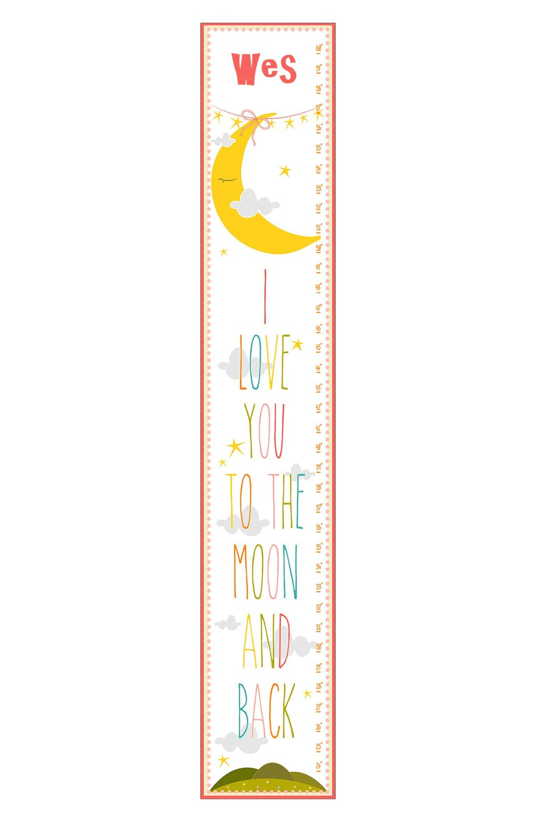 Alternate Image 1 Selected - Stupell 'I Love You' Personalized Growth Chart