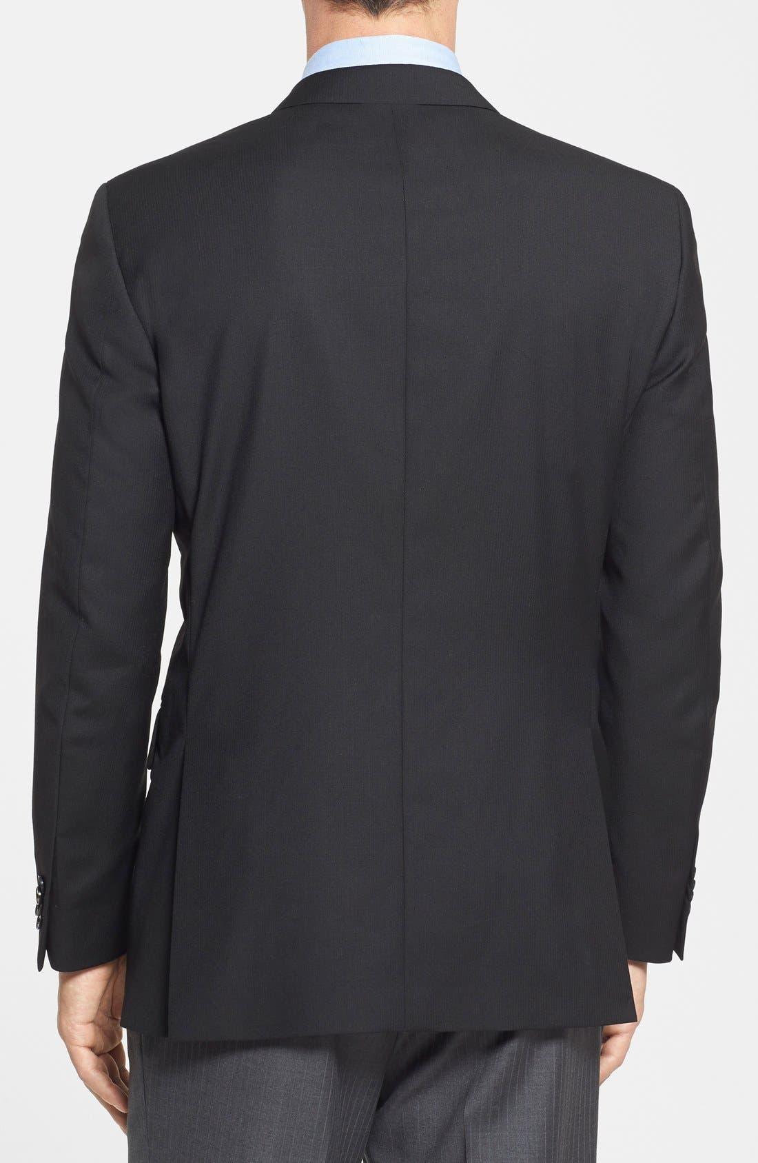 Alternate Image 2  - Peter Millar Classic Fit Black Wool Sport Coat