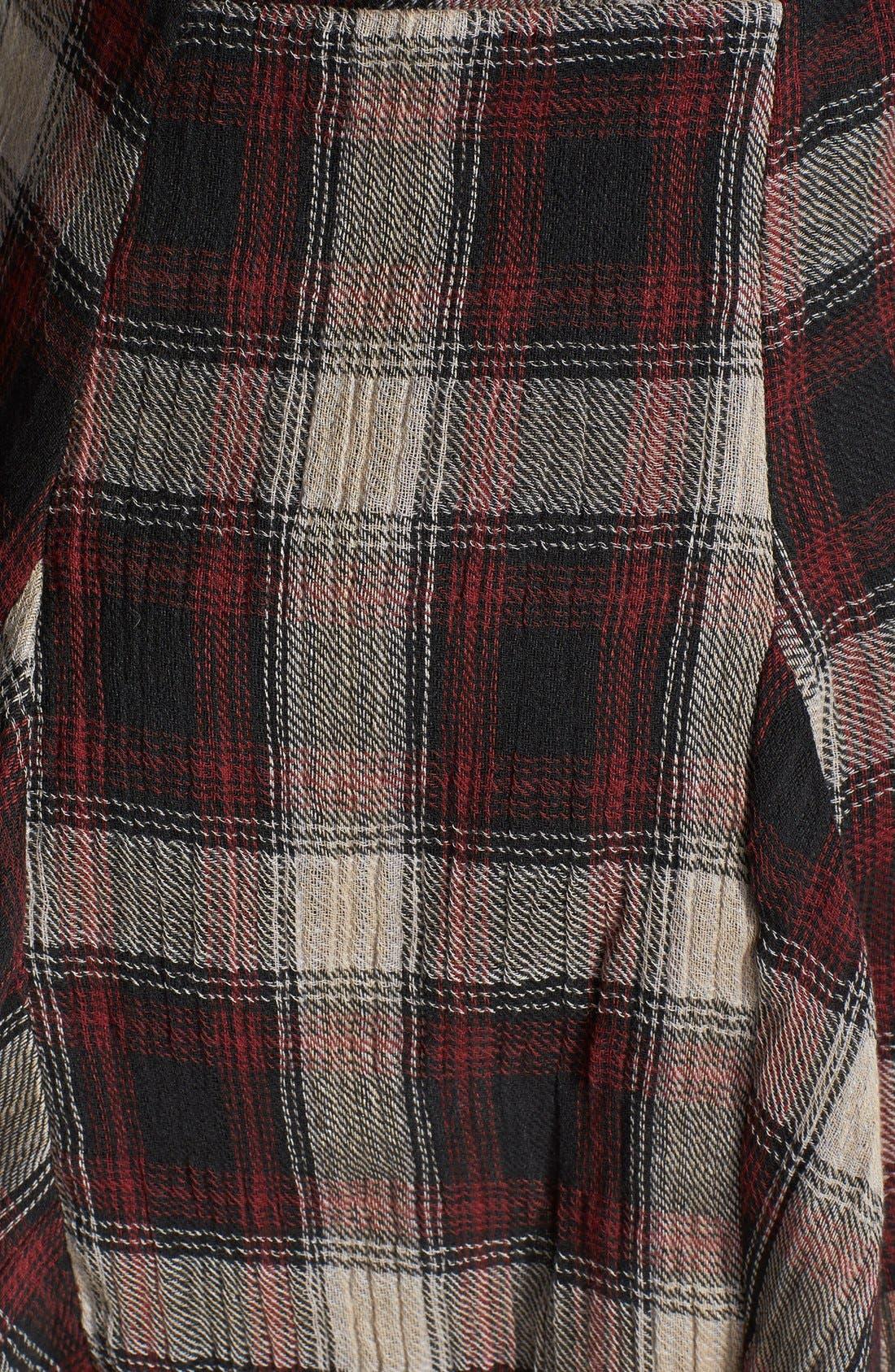 Alternate Image 4  - Free People 'Teen Spirit' Plaid Minidress