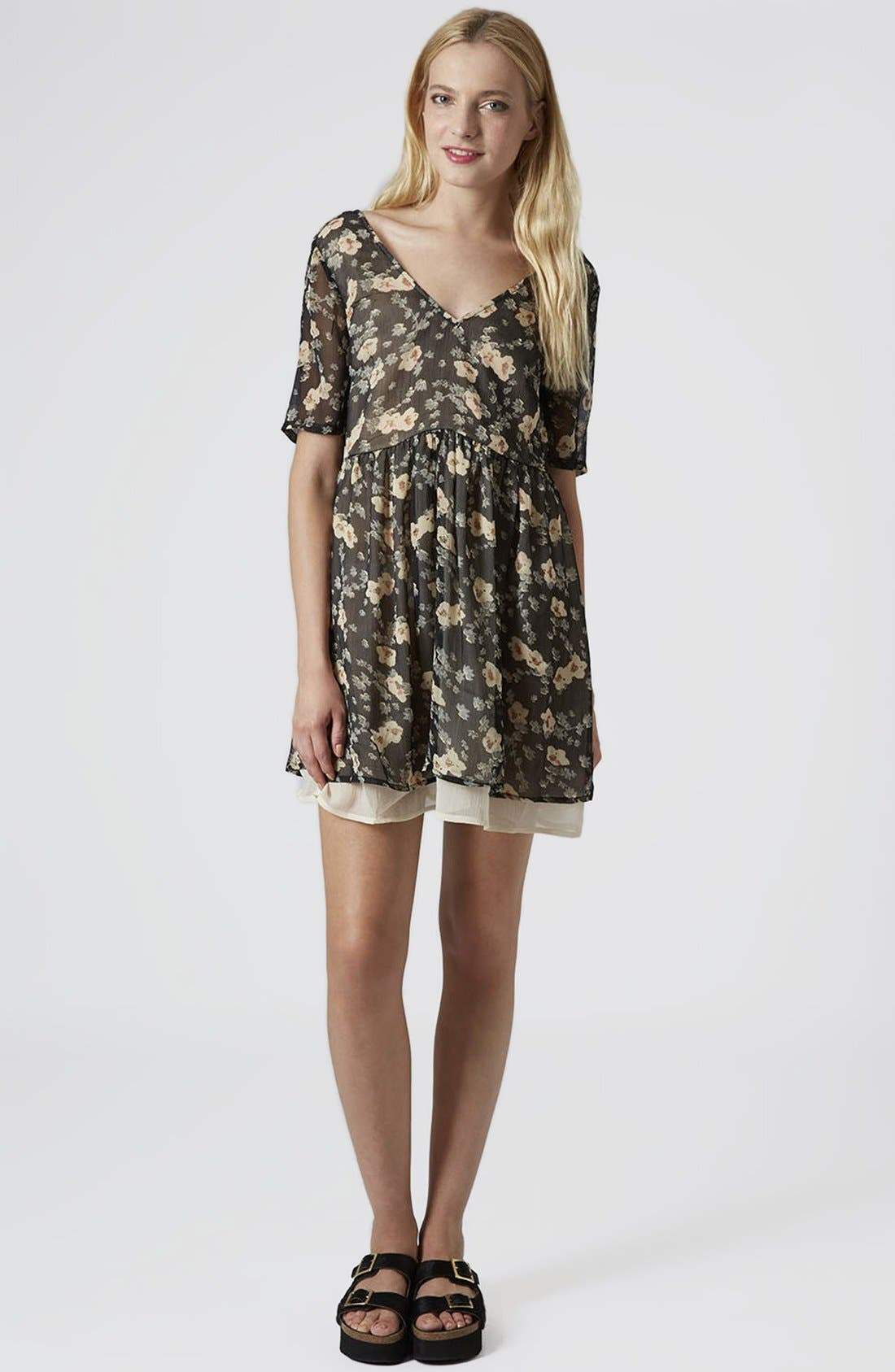 Alternate Image 4  - Topshop Reclaim To Wear Double Layer V-Neck Dress