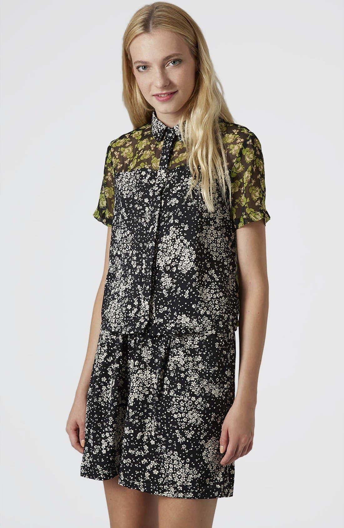 Main Image - Topshop Reclaim To Wear Mix Print Shirt