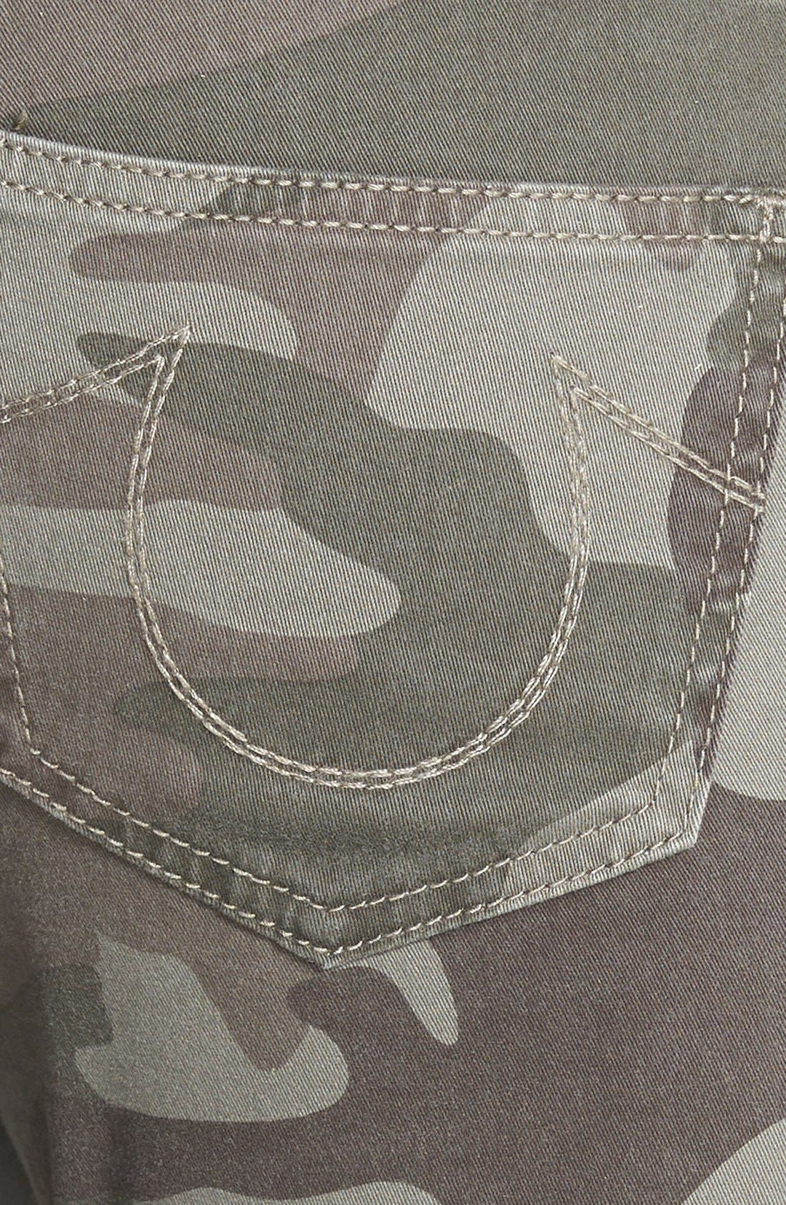 Alternate Image 3  - True Religion Brand Jeans Casey Print Super Skinny Jeans (Olive Camo)