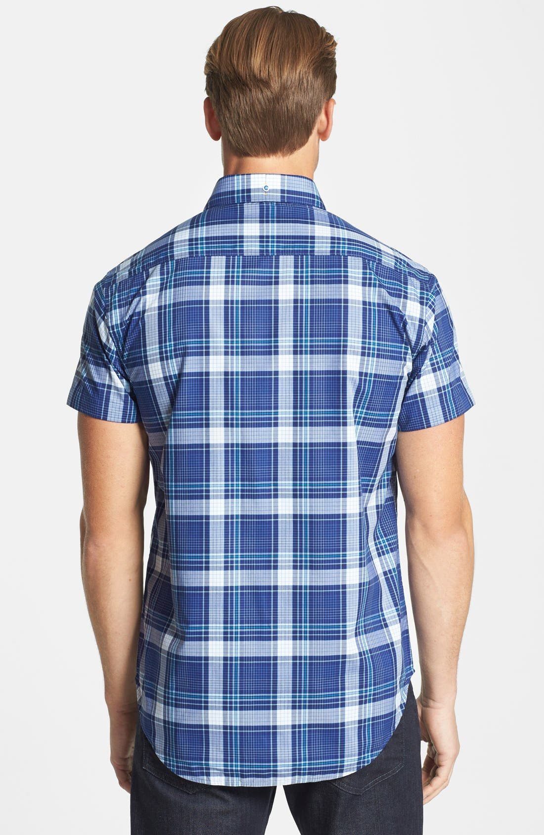 Alternate Image 3  - Robert Graham 'Sandstone' Tailored Fit Cotton Short Sleeve Sport Shirt