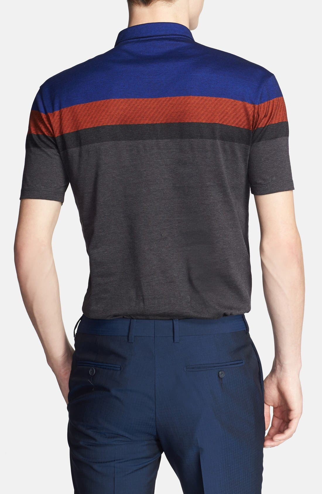 Alternate Image 2  - Z Zegna Colorblock Polo