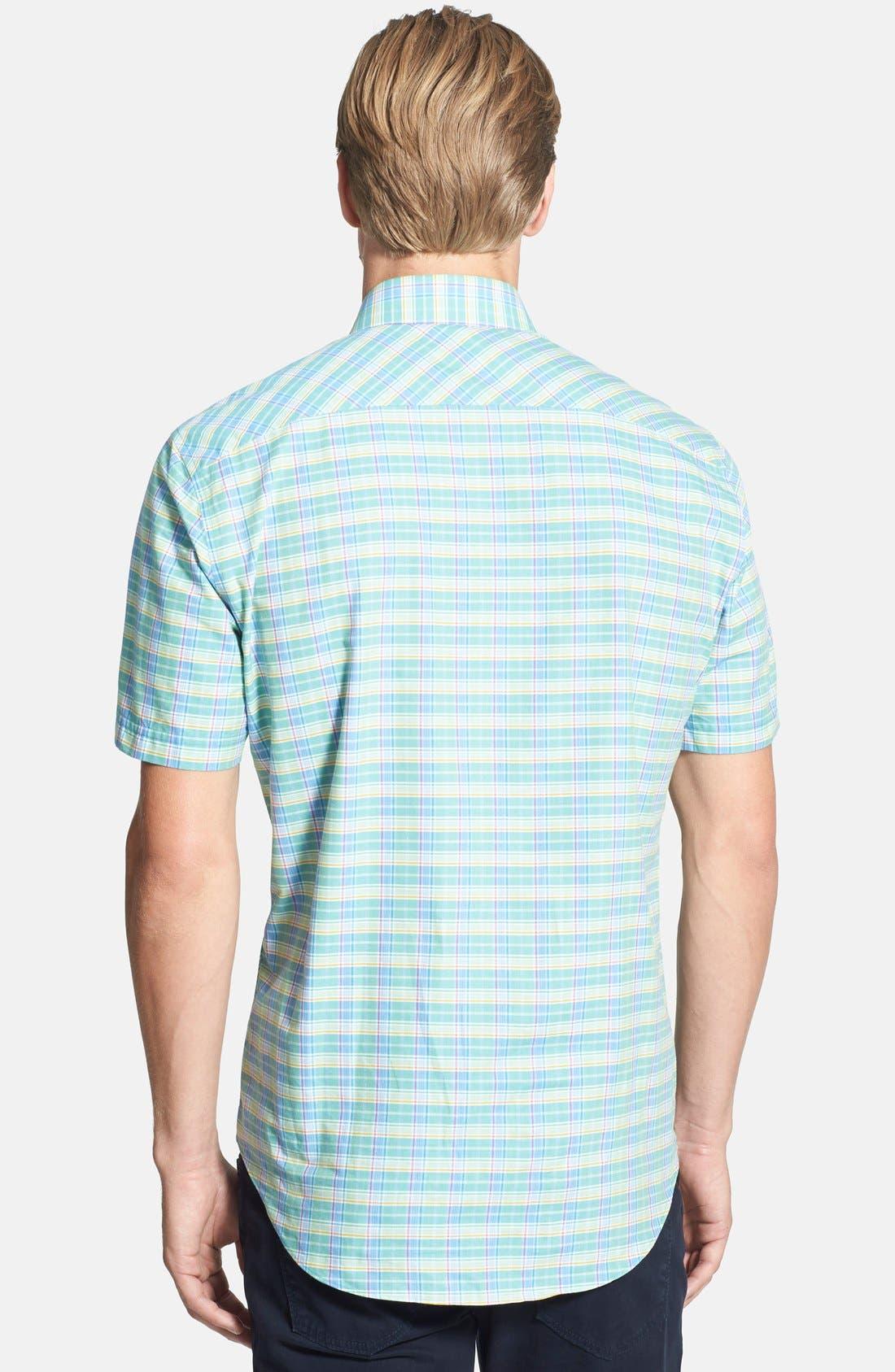 Alternate Image 2  - Zachary Prell 'Escobosa' Standard Fit Short Sleeve Plaid Sport Shirt