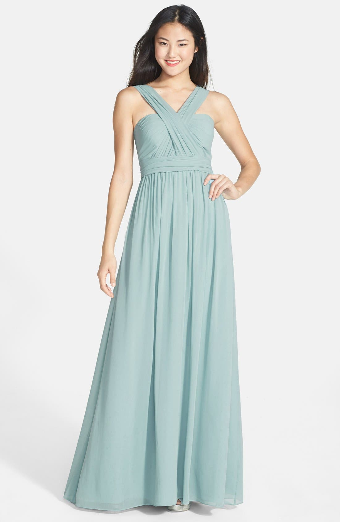 Alternate Image 8  - Jenny Yoo 'Aidan' Convertible Strapless Chiffon Gown