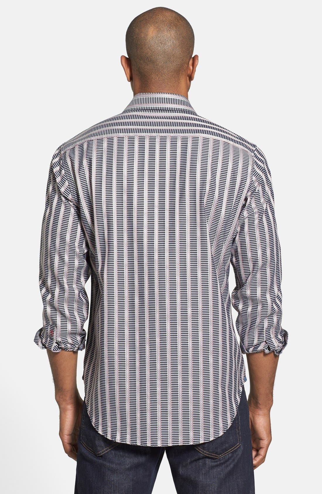 Alternate Image 2  - Robert Graham 'Wesley' Classic Fit Stripe Sport Shirt