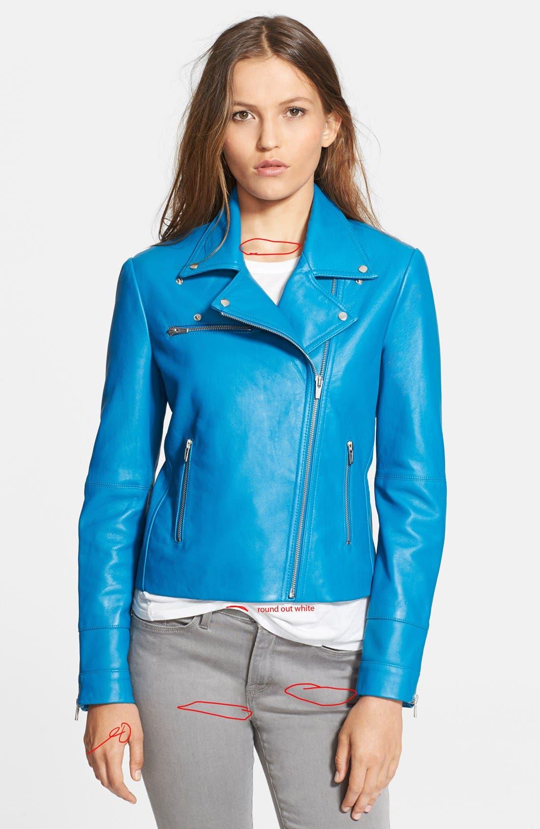 Alternate Image 3  - Veda Leather Moto Jacket