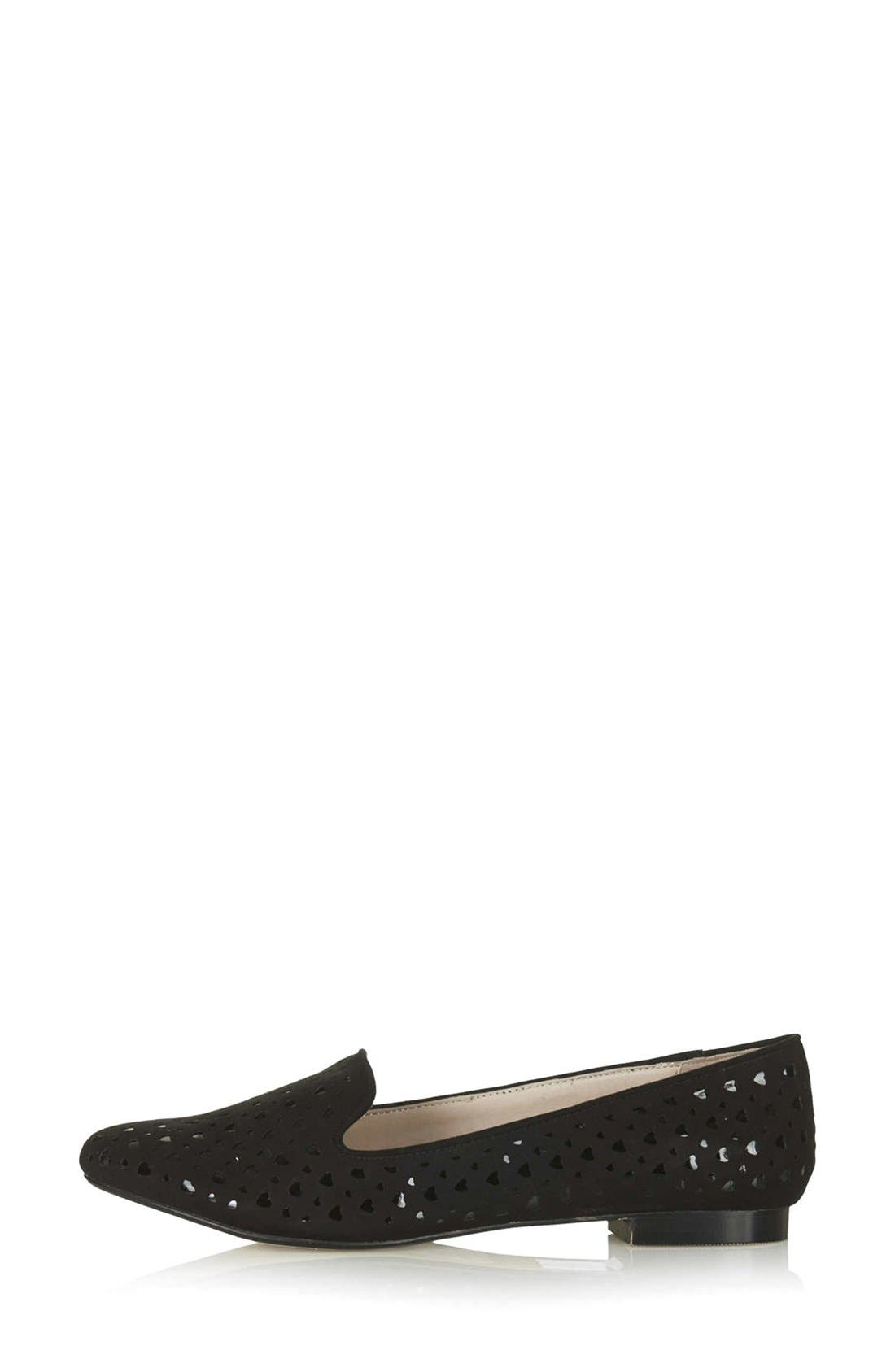 Main Image - Topshop 'Seek' Cutout Smoking Flat (Women)