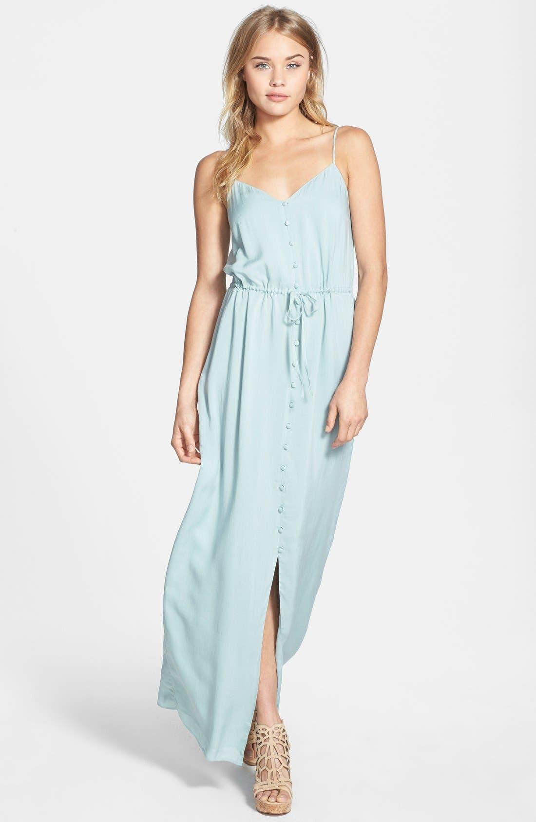 Alternate Image 1 Selected - Paige Denim 'Nina' Button Front Maxi Dress