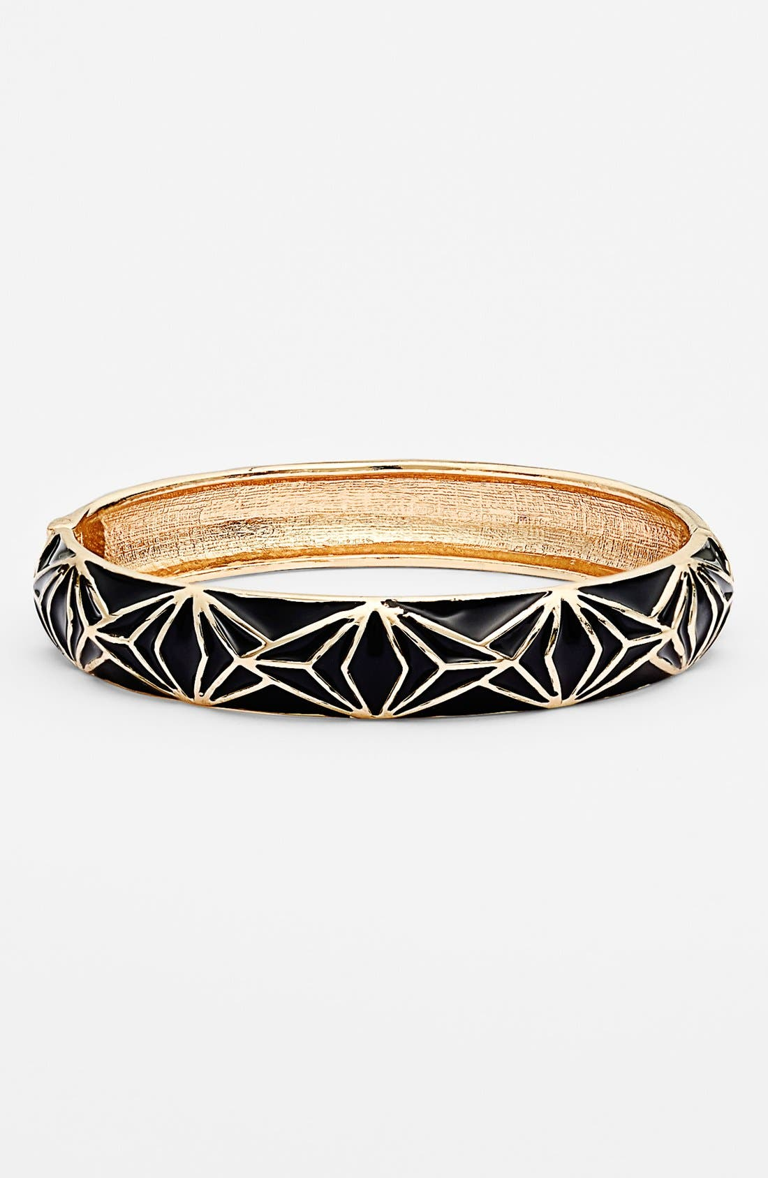 Alternate Image 1 Selected - Sequin Enamel Hinged Bangle Bracelet