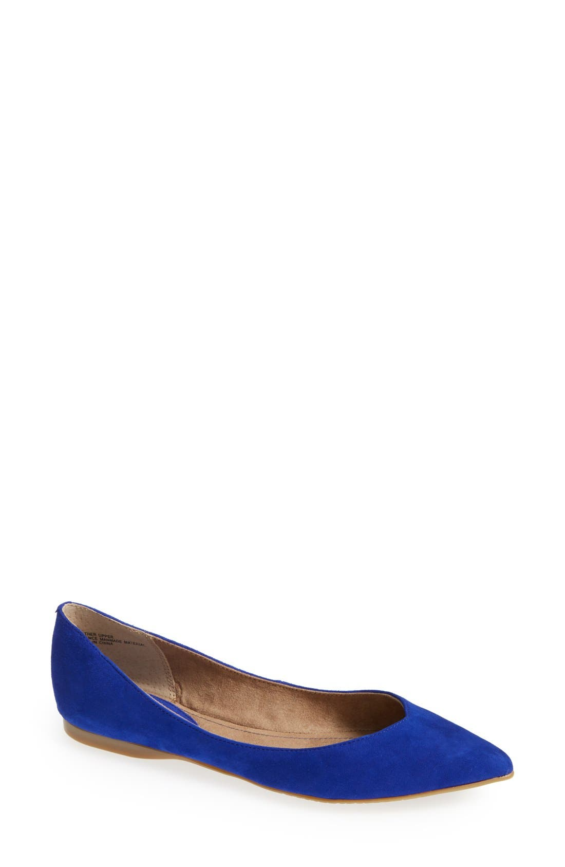 Main Image - BP. 'Moveover' Pointy Toe Leather Flat (Women)