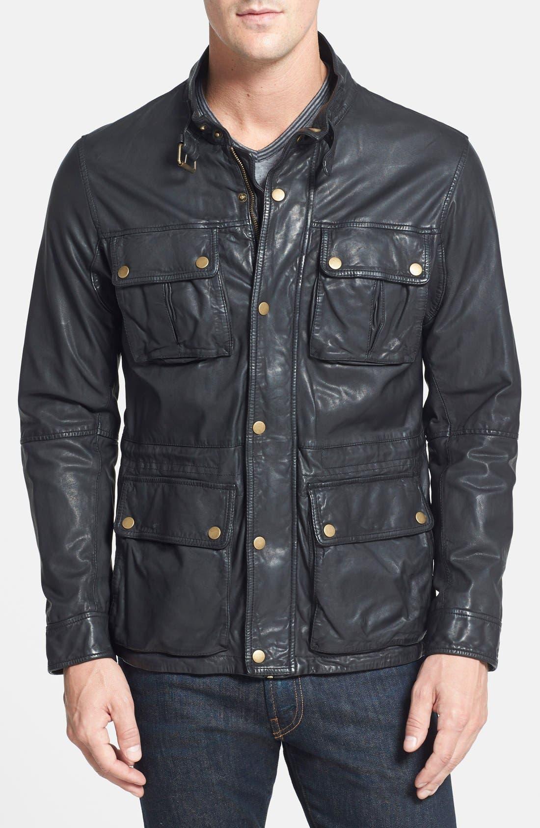 Main Image - Cole Haan Vintage Lambskin Leather Jacket