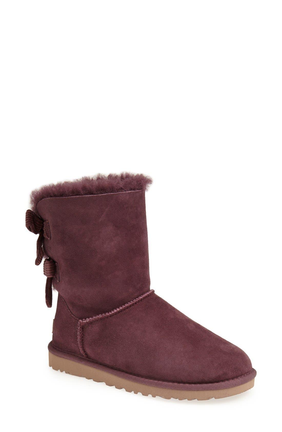 Alternate Image 1 Selected - UGG® Australia 'Bailey Bow Corduroy' Boot (Women)