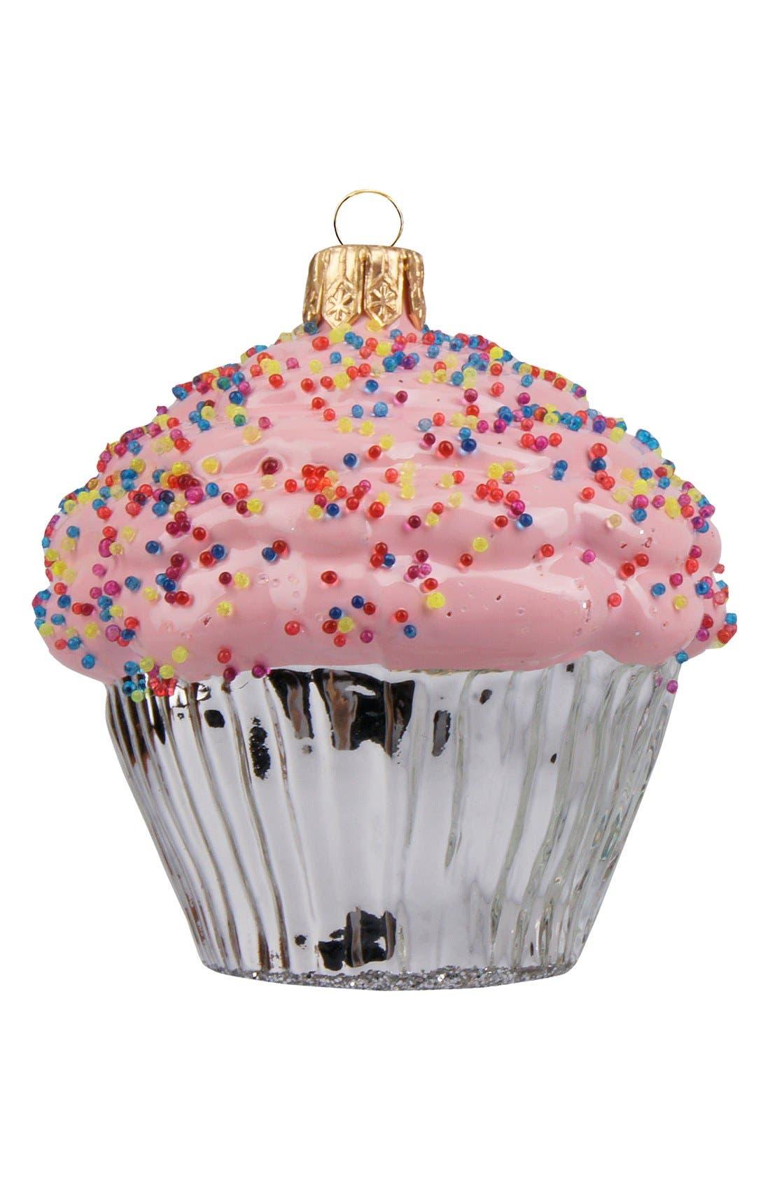 Alternate Image 1 Selected - Nordstrom at Home Handblown Cupcake Ornament