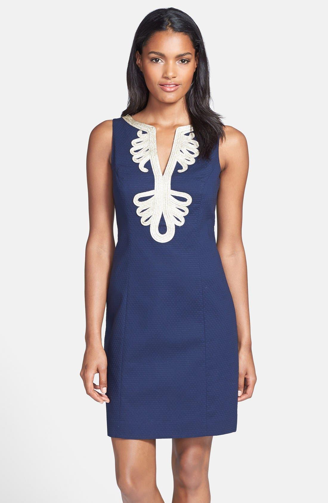 Main Image - Lilly Pulitzer® 'Janice' Soutache Cotton Shift Dress