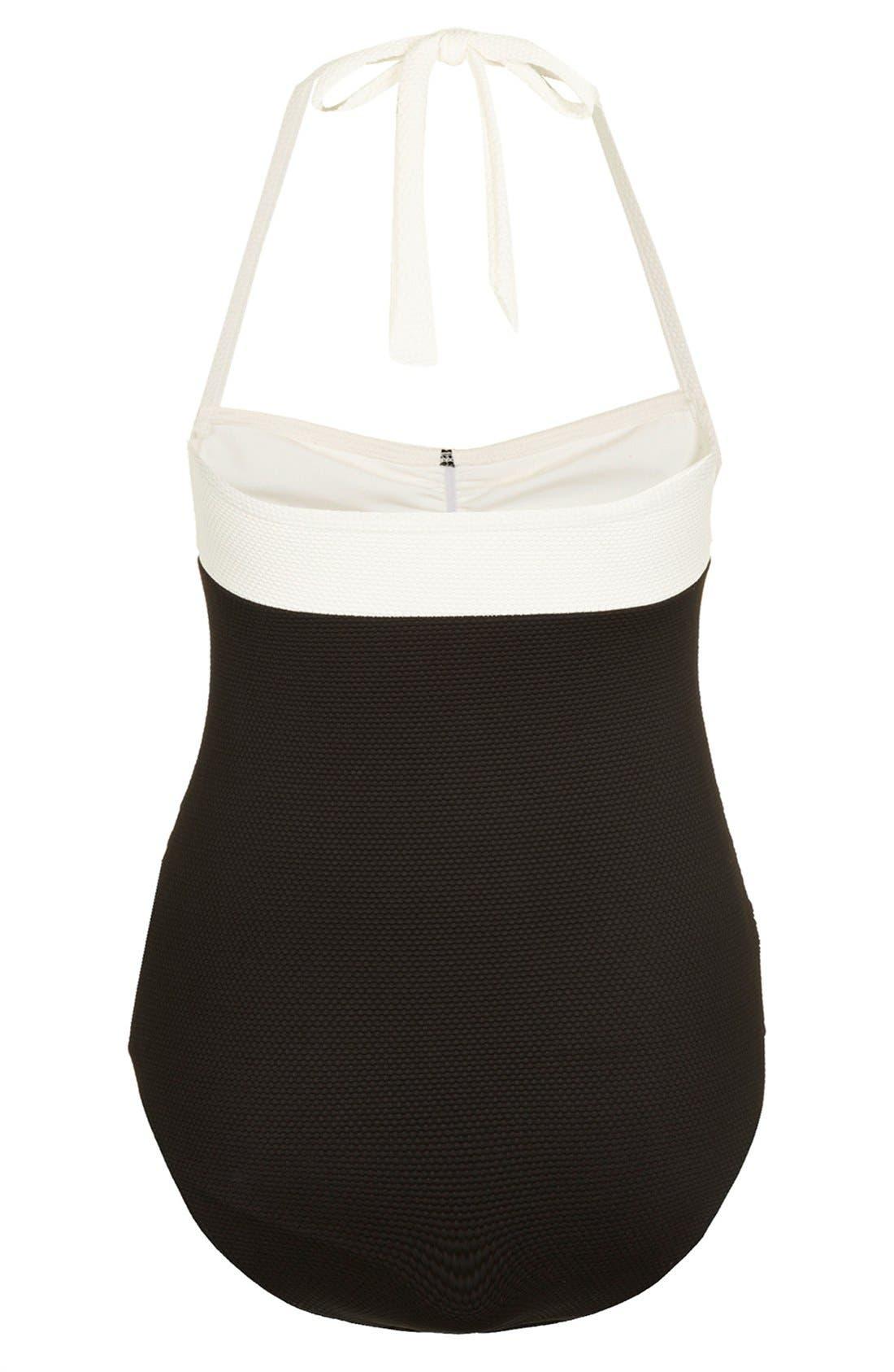 Alternate Image 2  - Topshop Scalloped Maternity Swimsuit