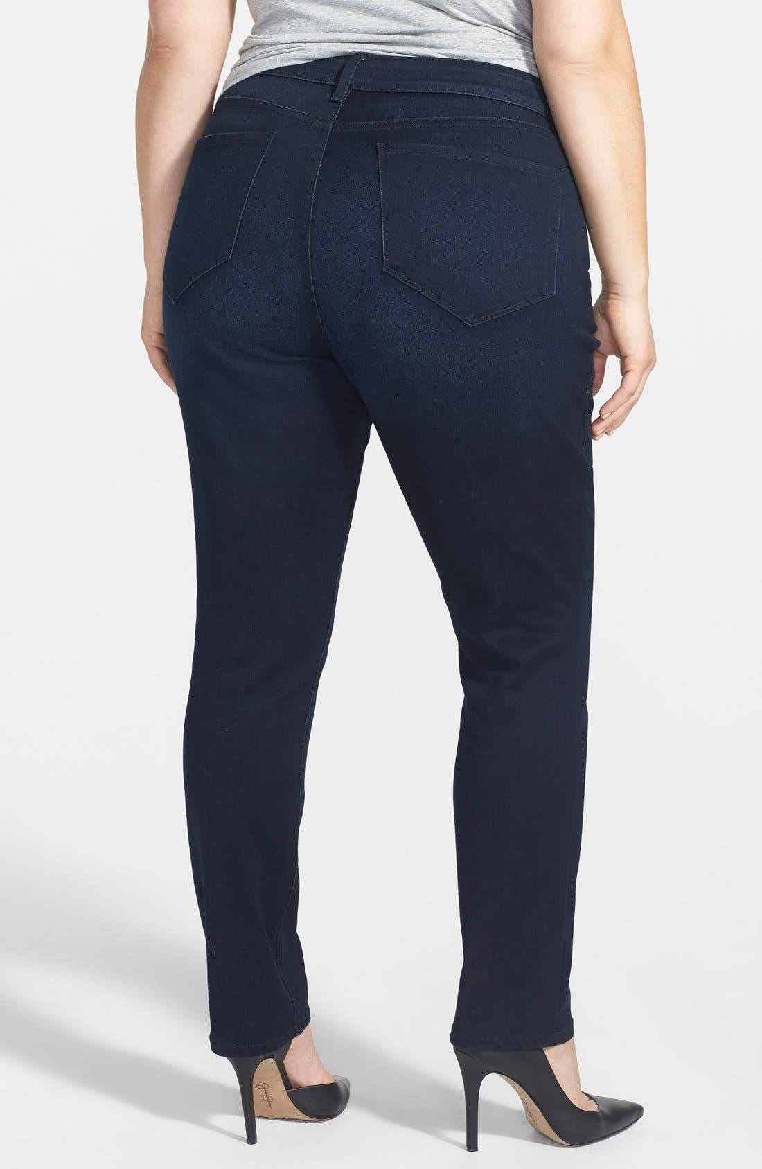 Alternate Image 2  - NYDJ 'Jade' Stretch Skinny Jeans (Norwell) (Plus Size)