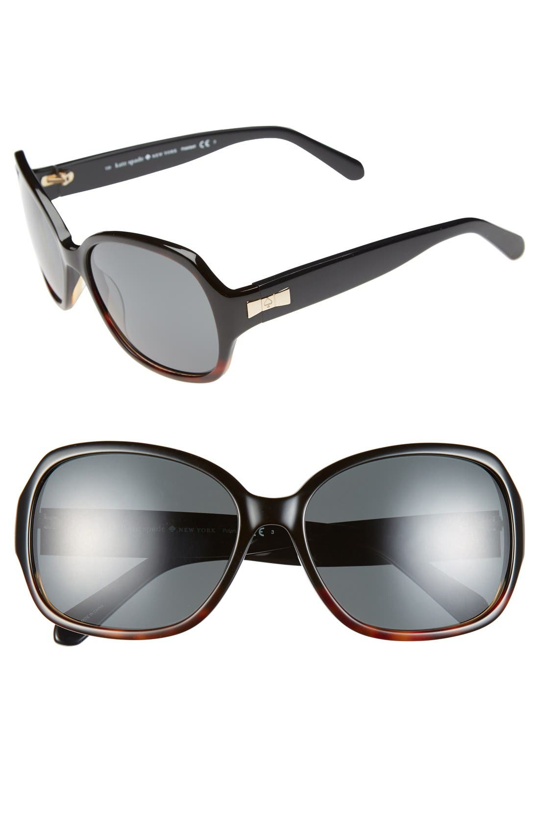 Alternate Image 1 Selected - kate spade new york laney 57mm polarized sunglasses