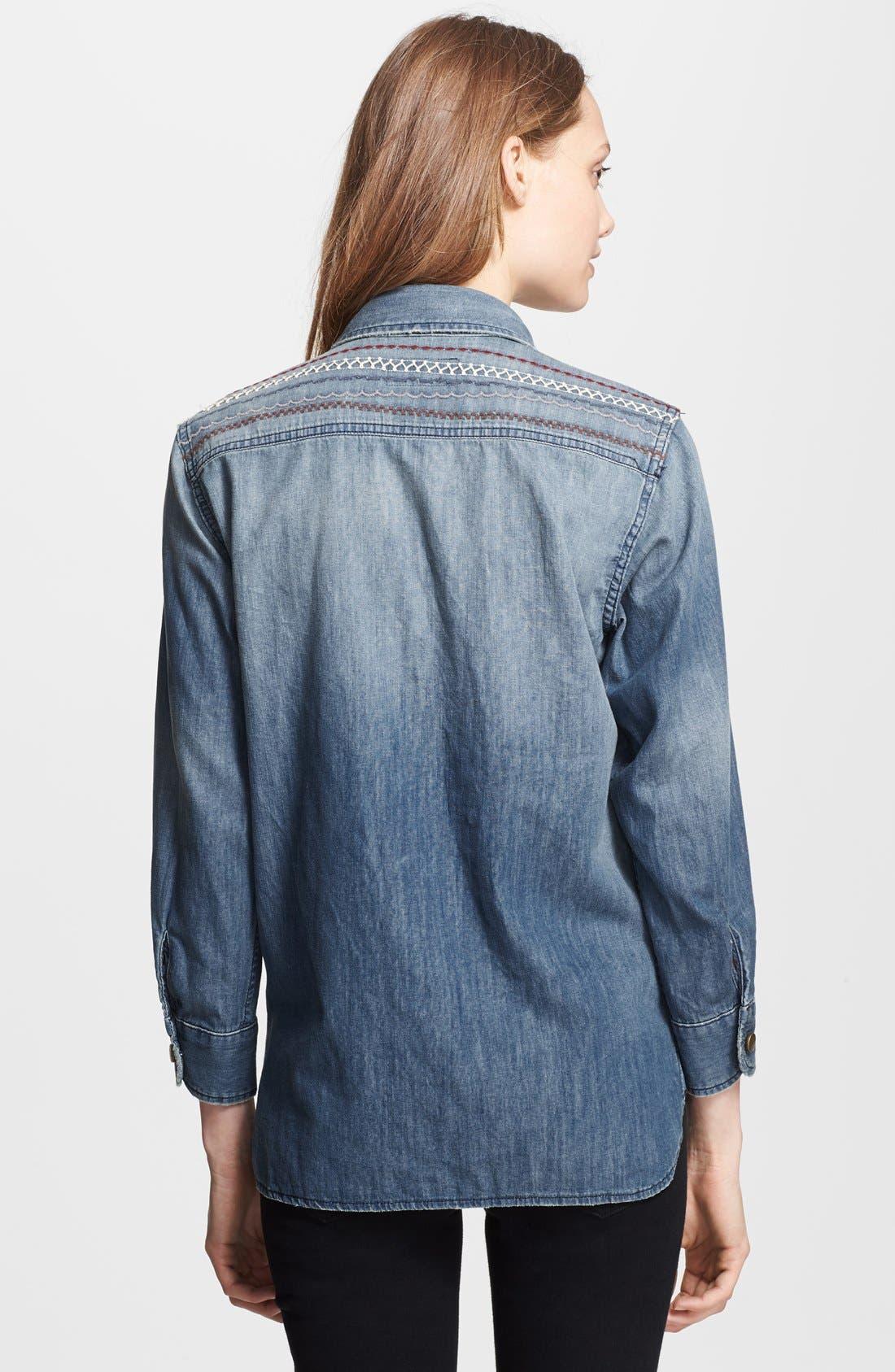 Alternate Image 2  - Current/Elliott 'The Perfect Shirt' Denim Shirt