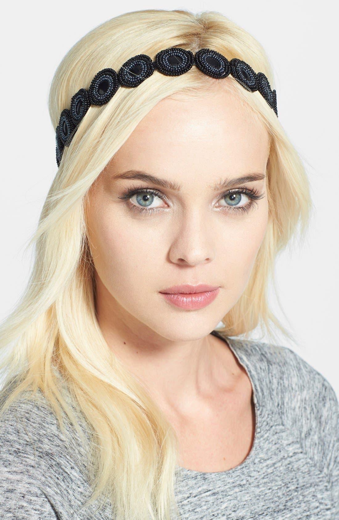 Alternate Image 1 Selected - Tasha 'Beaded in Glamour' Head Wrap