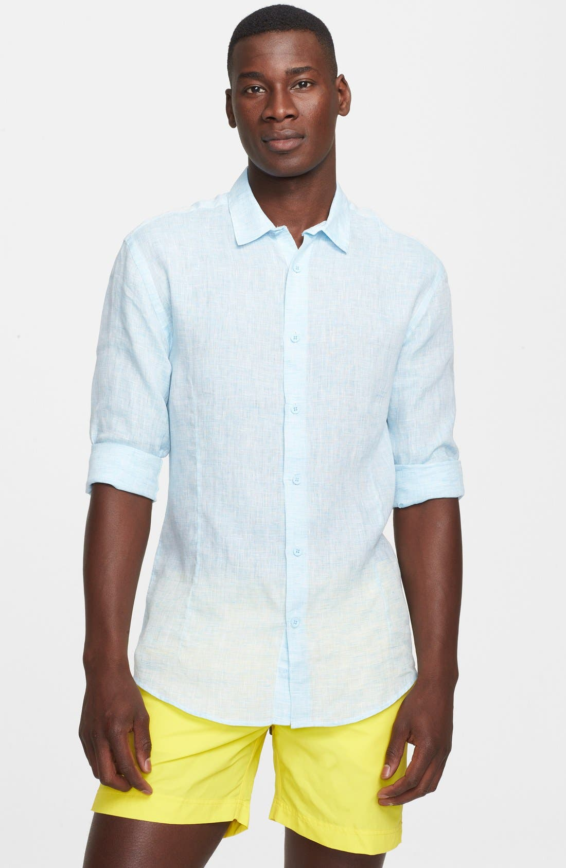 Alternate Image 1 Selected - Orlebar Brown 'Morton' Linen Shirt