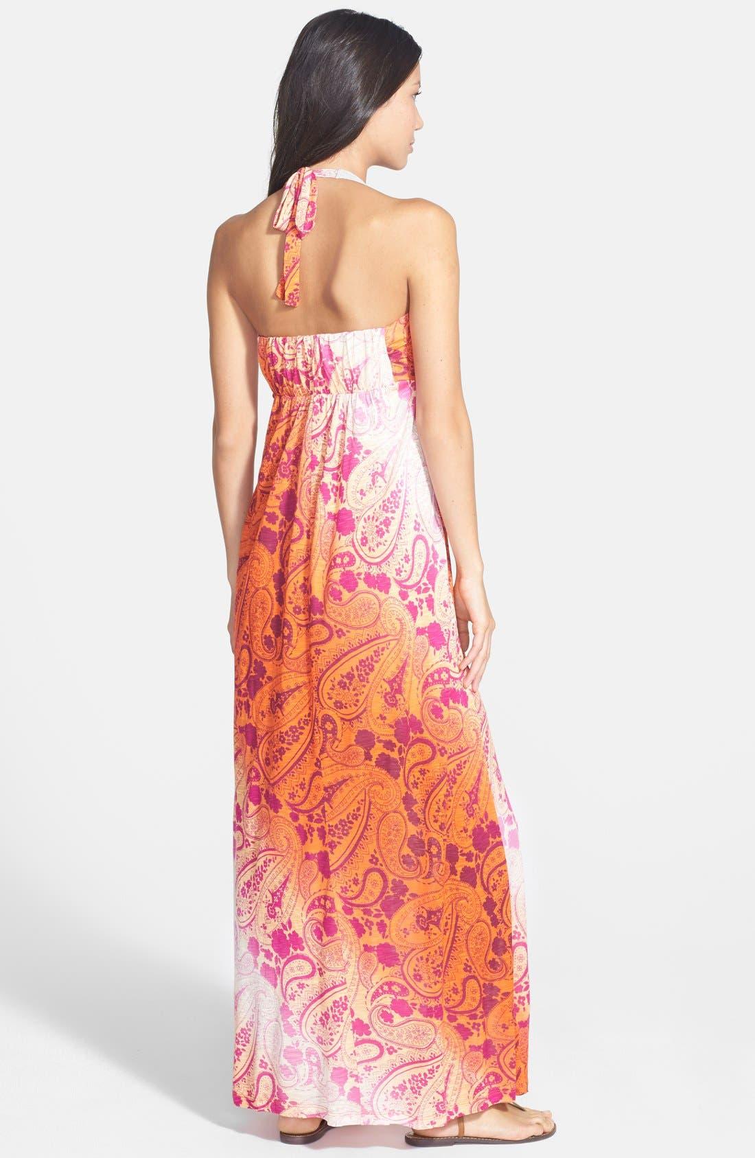Alternate Image 2  - Tommy Bahama 'Casa Sunrise' Halter Maxi Dress