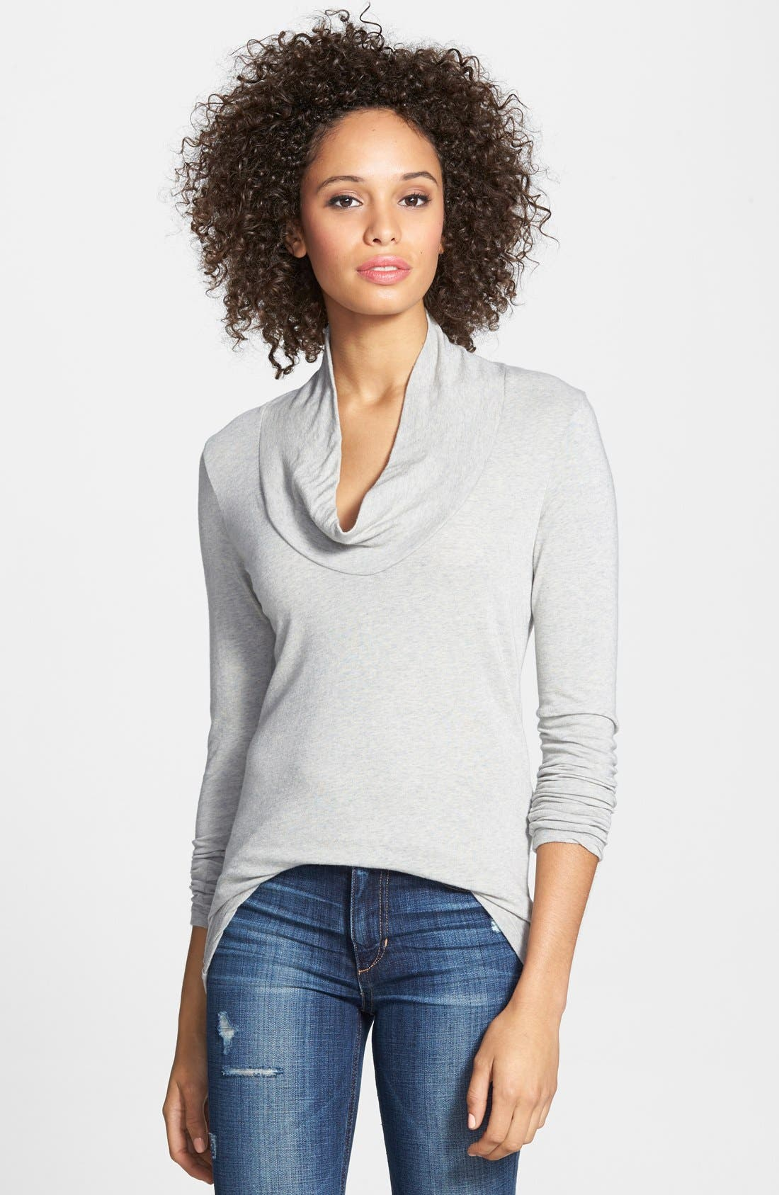 Main Image - James Perse Skinny Cowl Cashmere Top