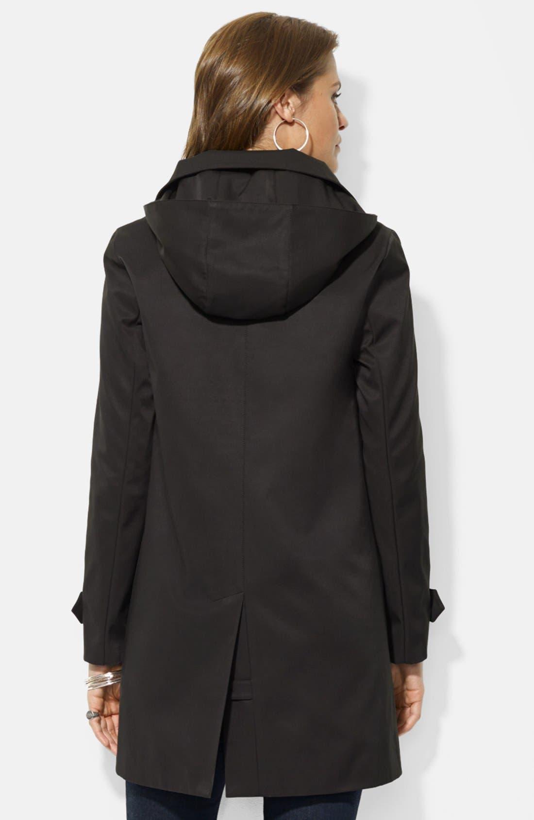 Alternate Image 2  - Lauren Ralph Lauren Rain Jacket with Detachable Hood & Liner (Nordstrom Exclusive)