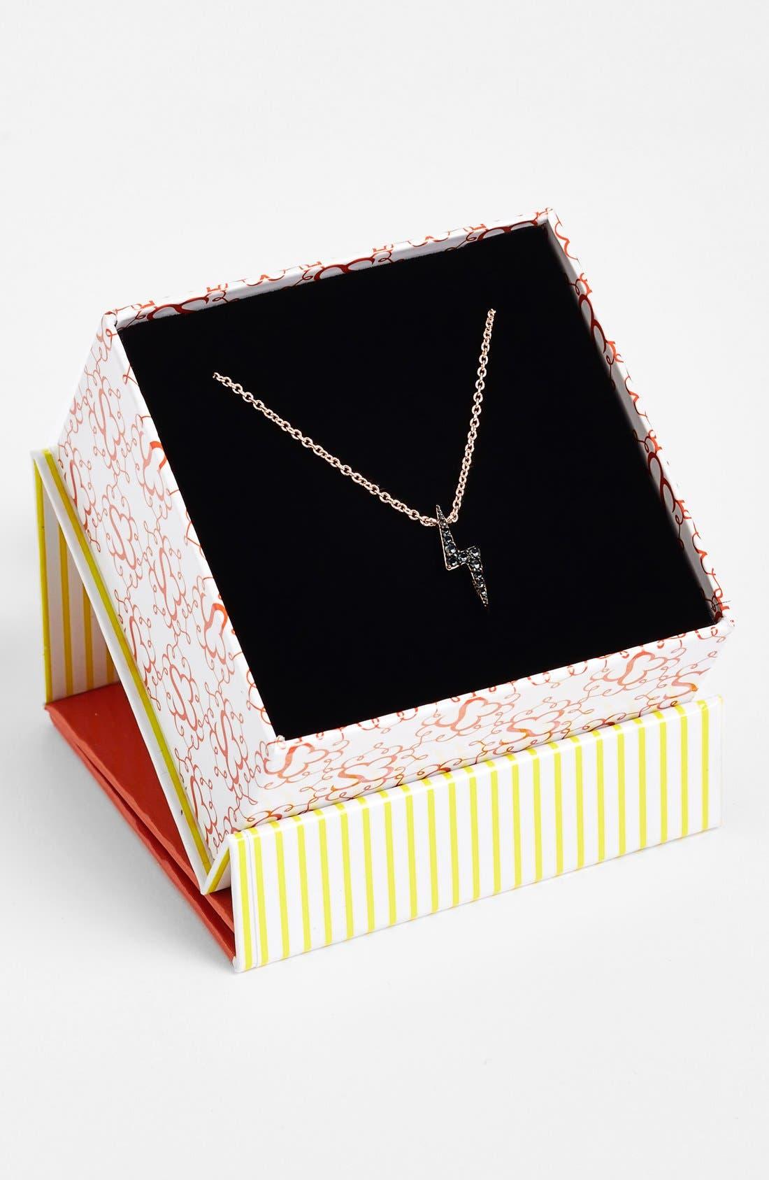 Alternate Image 2  - Sugar Bean Jewelry Lightning Bolt Pendant Necklace