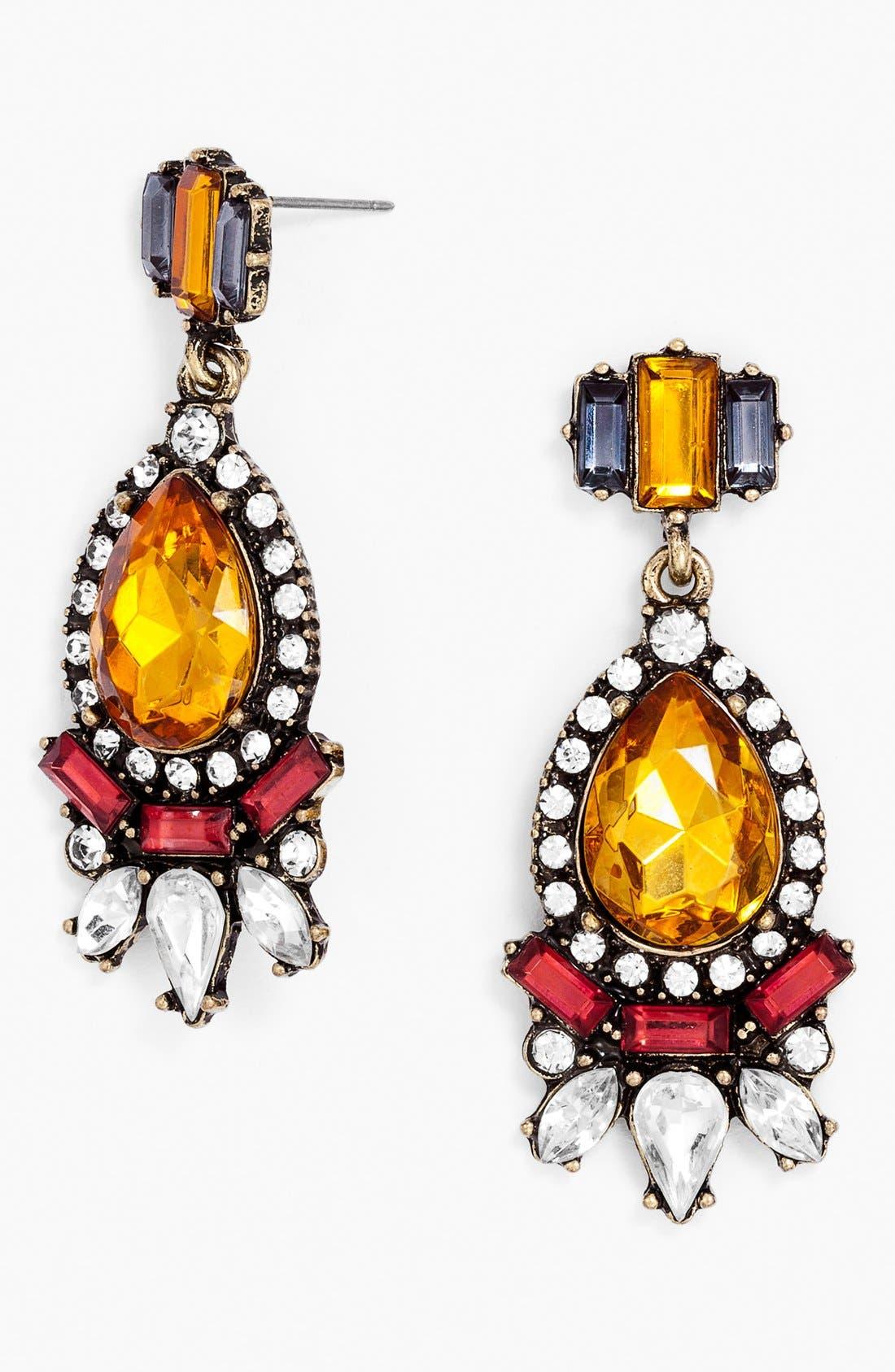 Main Image - BaubleBar 'Crystal Paisley' Drop Earrings