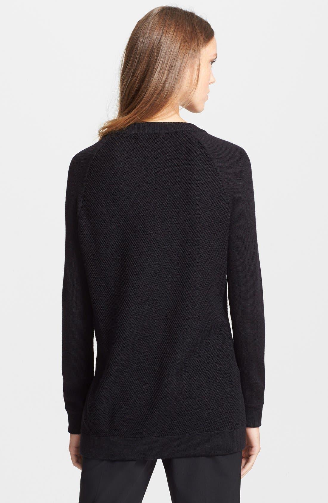 Alternate Image 2  - Vince Leather Trim Texture Sweater