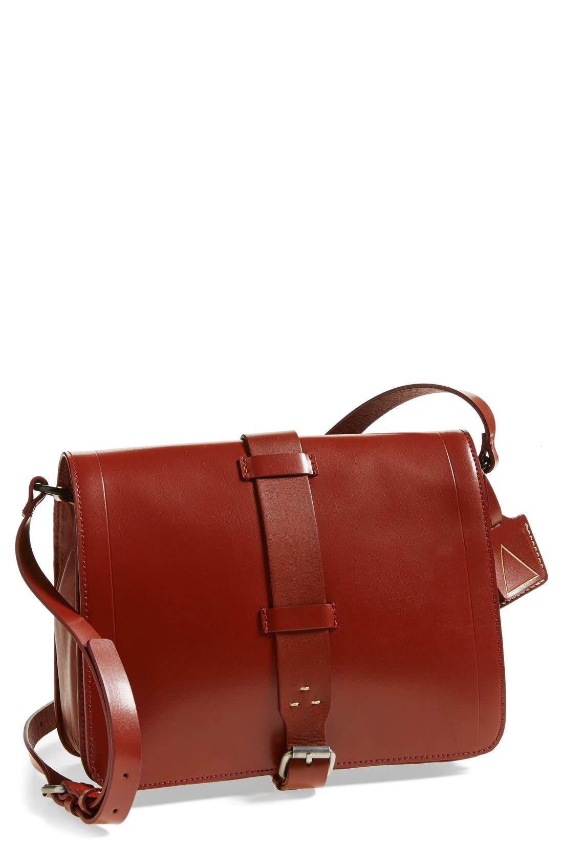 Alternate Image 1 Selected - Kelsi Dagger Brooklyn 'Courier' Leather Crossbody Bag