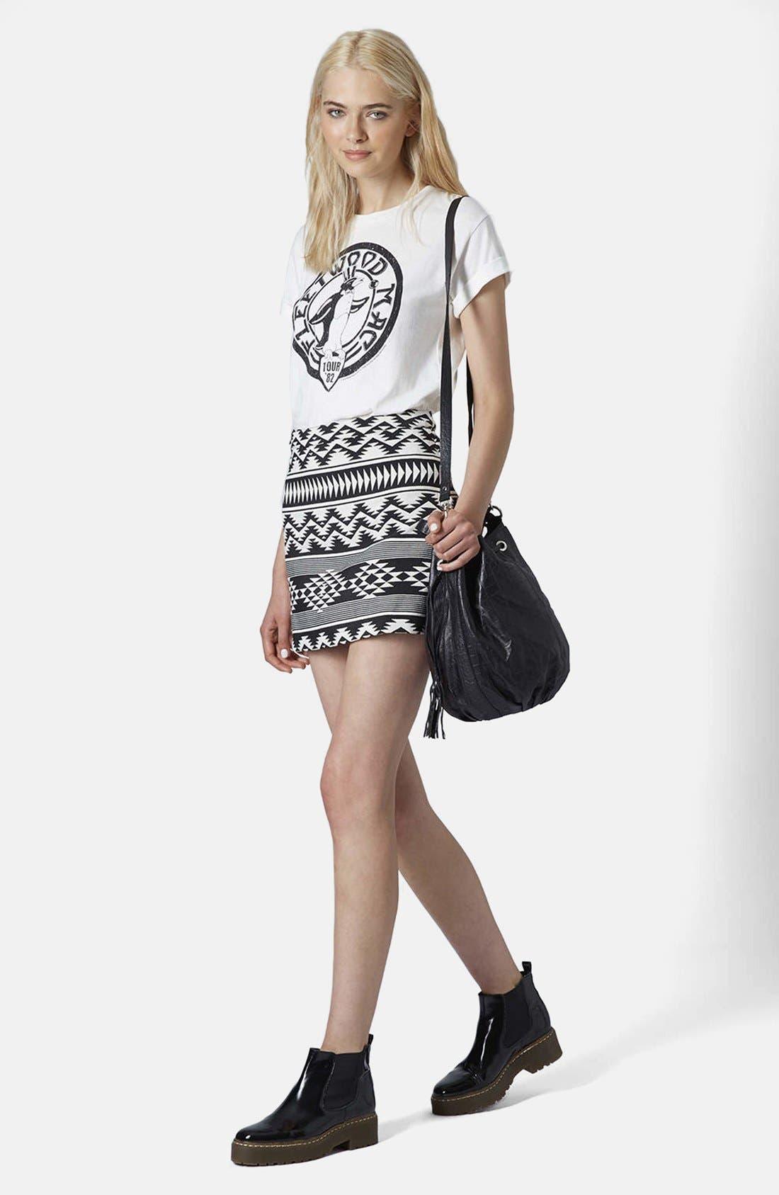 Alternate Image 4  - Topshop Geo Print A-Line Skirt