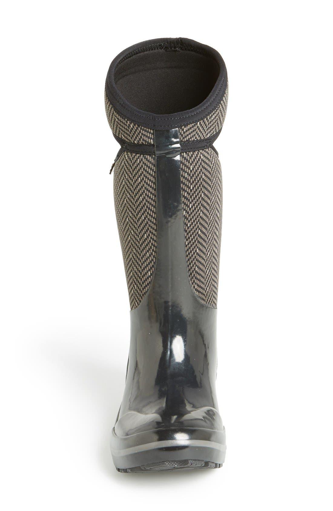 Alternate Image 3  - Bogs Plimsoll  - Herringbone Waterproof Boot (Women)