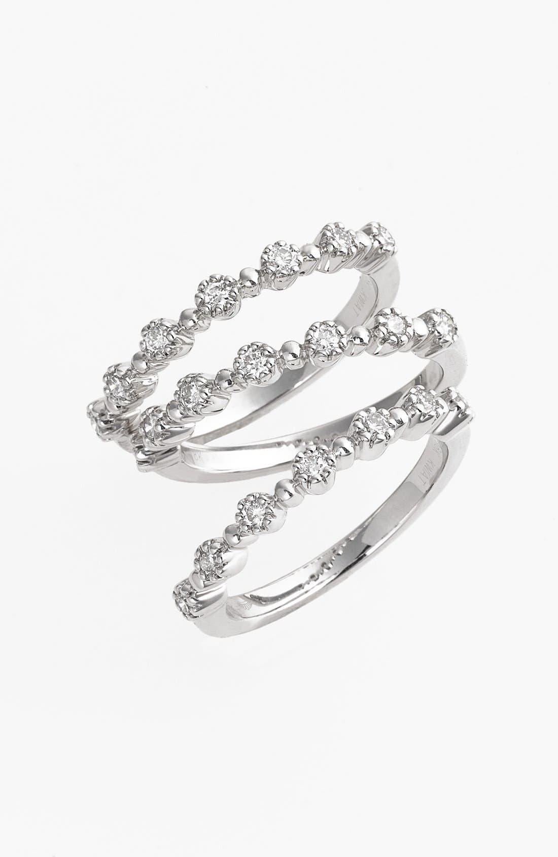 Alternate Image 1 Selected - Kwiat 'Stardust' Diamond Stackable Rings (Set of 3)