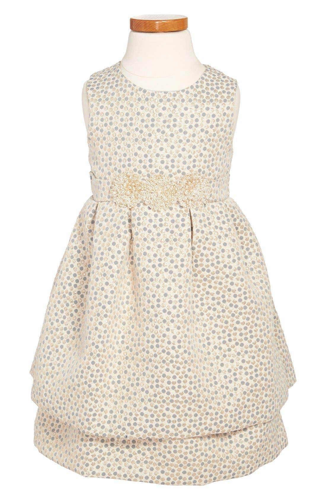 Main Image - Pippa & Julie Sleeveless Brocade Dress (Toddler Girls, Little Girls & Big Girls)